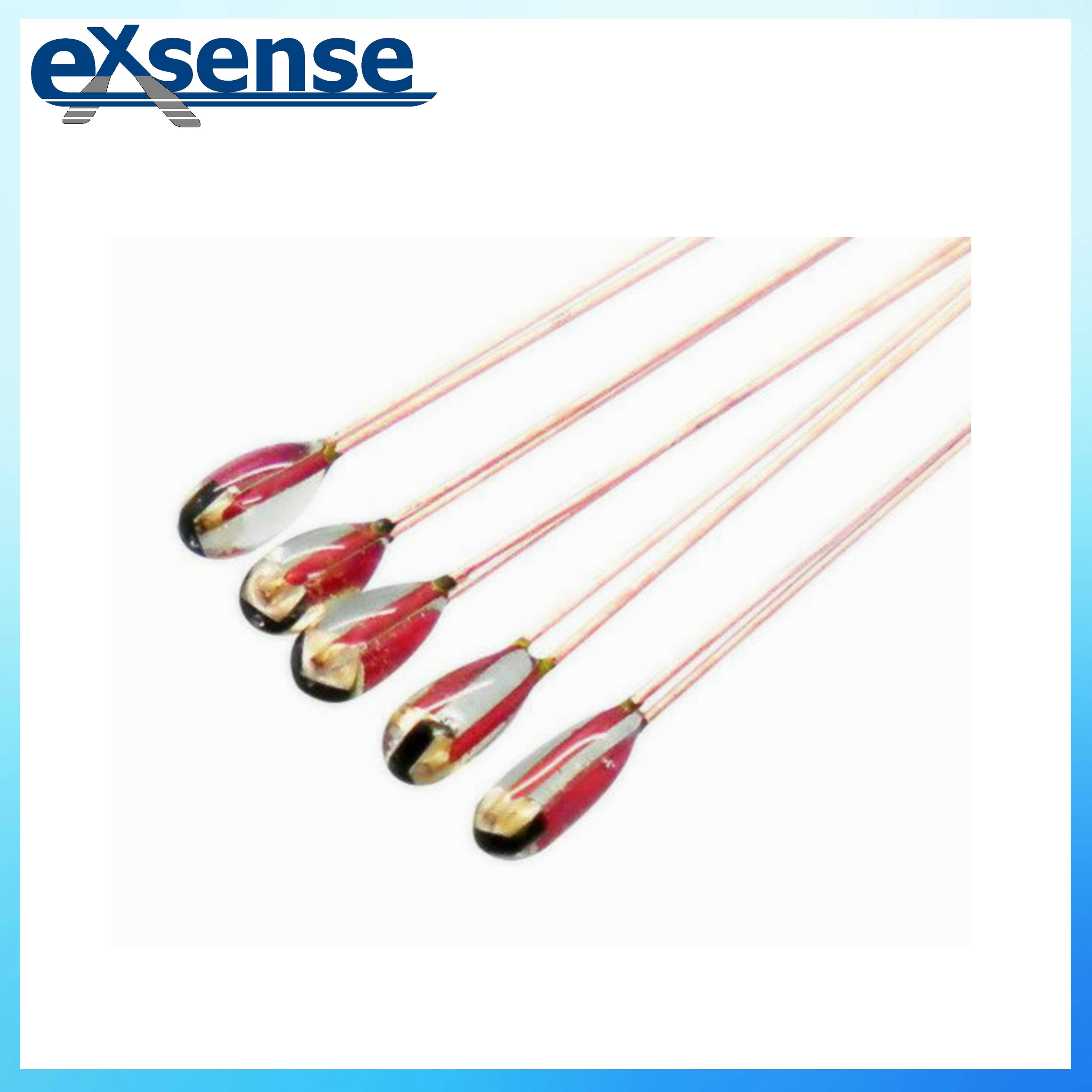 250C glass NTC thermistor with dumet wire